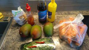 Гриль манго салат ингридиенты